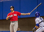 2 April 2016: Boston Red Sox catcher Blake Swihart at bat during a pre-season exhibition game against the Toronto Blue Jays at Olympic Stadium in Montreal, Quebec, Canada. The Red Sox defeated the Blue Jays 7-4 in the second of two MLB weekend games, which saw a two-game series attendance of 106,102 at the former home on the Montreal Expos. Mandatory Credit: Ed Wolfstein Photo *** RAW (NEF) Image File Available ***