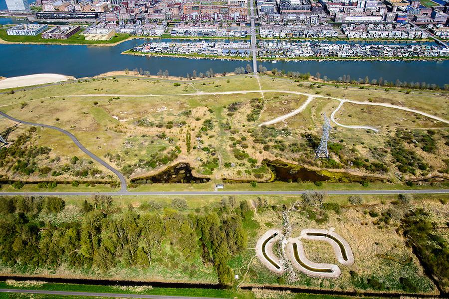 Nederland, Noord-Holland, Amsterdam, 20-04-2015; IJburg, Haveneiland, gezien vanaf het Diemerpark (voormalige vuilstortplaats Diemerzeedijk). IJburg, the new urban development district of Amsterdam, former landfill Diemerzeedijk.<br /> <br /> luchtfoto (toeslag op standard tarieven);<br /> aerial photo (additional fee required);<br /> copyright foto/photo Siebe Swart