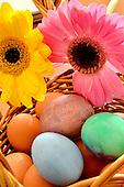 Stock photo of Easter egg basket