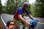 Blind Pilot vibes player Ian Krist rides on  Highway 1 in Northern California on September 19, 2008.
