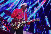 Legendary musician Chuck Berry performs in New Orleans Saturday May 30,2009 as part of the Domino Effect Benefit concert which also featured B.B. King and Little Richard. Domino Effect Benefit Concert legendary performers gather in New Orleans at the Arena to raise funds and awarness for hurricane Katrina rebuilding for Fats Domino the Tipatina Foundation and the Drew Brees' foundation. Photo&copy;Suzi Altman ALL IMAGES &copy;SUZI ALTMAN. IMAGES ARE NOT PUBLIC DOMAIN. CALL OR EMAIL FOR LICENSE, USE, OR TO PURCHASE PRINTS 601-668-9611 OR EMAIL SUZISNAPS@AOL.COMPhoto&copy;Suzi Altman