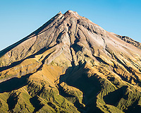 Portrait of Taranaki, Mount Egmont, Egmont National Park, North Island, New Zealand, NZ