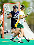 1 May 2010: University of New Hampshire Wildcat midfielder Allie Duclos, a Junior from South Windsor, CT, in action against the University of Vermont Catamounts at Moulton Winder Field in Burlington, Vermont. The visiting Wildcats defeated the Lady Catamounts 18-10 in the last game of the 2010 regular season. Mandatory Photo Credit: Ed Wolfstein Photo