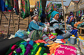 Ethnic Hmong women at Muong Hum market, Vietnam.