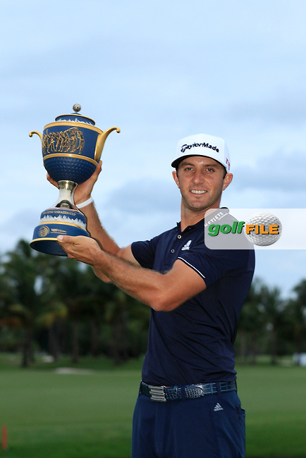 Dustin Johnson (USA) winner of the WGC Cadillac Championship, Blue Monster, Trump National Doral, Doral, Florida, USA<br /> Picture: Fran Caffrey / Golffile