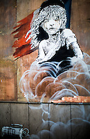 """25.01.2016 - Banksy """"Les Misérables"""" - Artwork Outside The French Embassy in London"""