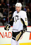 6 February 2010: Pittsburgh Penguins' center Jordan Staal warms up prior to a game against the Montreal Canadiens at the Bell Centre in Montreal, Quebec, Canada. The Canadiens defeated the Penguins 5-3. Mandatory Credit: Ed Wolfstein Photo