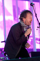 British alternative rock band Radiohead, fronted by Thom Yorke, play to a sold out crowd, Tuesday Aug. 19th, 2008, at UBC's Thunderbird Stadium in Vancouver. (Scott Alexander/pressphotointl.com)