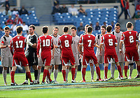 HOOVER, AL - DECEMBER 09, 2012: Players of Indiana University and Georgetown University during the NCAA 2012 Men's College Cup championship, at Regions Park, in Hoover , AL, on Sunday, December 09, 2012.