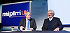 Mipim UK <br /> The UK Property Marketplace exhibition at Olympia London, Great Britain <br /> 15th october 2014 <br /> <br /> Keynote speech by <br /> <br /> Boris Johnson <br /> Mayor of London <br /> <br /> and pictures with Lord Michael Heseltine<br /> <br /> <br /> <br /> Photograph by Elliott Franks <br /> Image licensed to Elliott Franks Photography Services