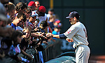 5 September 2009: Cleveland Indians' utilityman Jamey Carroll signs autographs prior to facing the Minnesota Twins at Progressive Field in Cleveland, Ohio. The Indians fell to the Twins 4-1 in the second game of their three-game weekend series. Mandatory Credit: Ed Wolfstein Photo