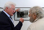 Homer Sykes with the great American French photographer Louis Stettner (1922-2016) at my show in Paris 2015. My Britain 1970-1980 at Les Douches la Galeria.