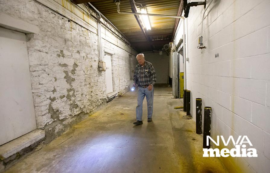 NWA Democrat-Gazette/JASON IVESTER<br /> State Rep. Kim Hendren discusses the plans for the former Kihlberg Hotel in the Shiloh Community Wednesday, April 12, 2017, in Sulphur Springs.