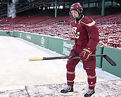Patrick Brown (BC - 23) -  - The participating teams in Hockey East's first doubleheader during Frozen Fenway practiced on January 3, 2014 at Fenway Park in Boston, Massachusetts.