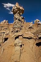 746000008 strange sandstone formations stand watch over the landscape in fantasy canyon a blm property in the middle of a working oil field in northeastern utah united states