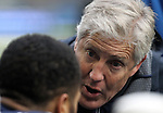 Seattle Seahawks head coach Pete Carroll talks to his free safety Earl Thomas during their game against the Pittsburgh Steelers at CenturyLink Field in Seattle, Washington on November 29, 2015.  The Seahawks beat the Steelers 39-30.      ©2015. Jim Bryant Photo. All Rights Reserved.