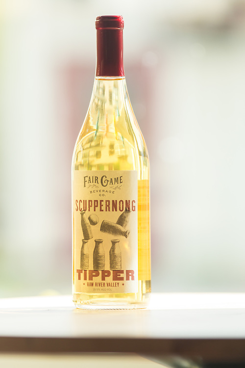 Pittsboro, North Carolina - Friday March 18, 2016 - Fair Game Beverage Company's Scuppernong wine.
