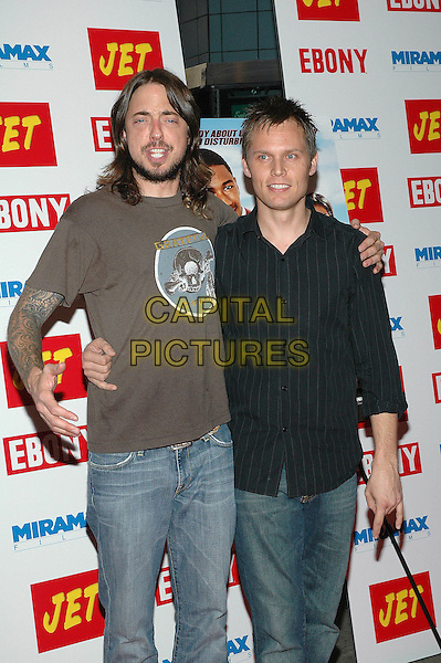 """23 August 2005 - New York, New York - Timothy Mahoney and Chad Sexton of the band 311 arrive at the premiere of the new film, """"The Underclassman"""", at the Chelsea West Cinema in Manhattan.  .Photo Credit: Patti Ouderkirk/AdMedia"""