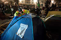 Eviction of Occupy LSX camp. St Pauls London 28-2-12 Police and bailiffs evict the Occupy LSX camp in the grounds of St Pauls in London.