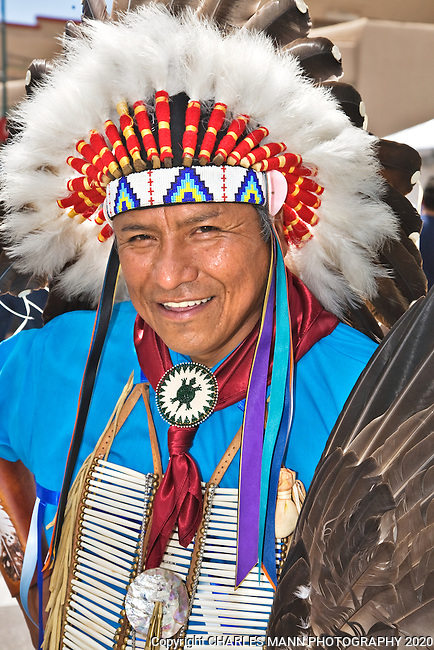 The annual Indian Market, held on the plaza each August in Santa Fe, is the single largest Native American art event in the world. Chief Reynard Faber is from the Jicarilla Apache tribe and lives in the northern New Mexico town of Dulce.
