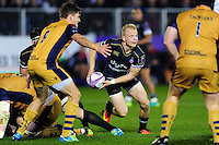 Will Homer of Bath Rugby looks to pass the ball. European Rugby Challenge Cup match, between Bath Rugby and Bristol Rugby on October 20, 2016 at the Recreation Ground in Bath, England. Photo by: Patrick Khachfe / Onside Images