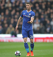 Chelsea's Gary Cahill<br /> <br /> Photographer Mick Walker/CameraSport<br /> <br /> The Premier League - Stoke City v Chelsea - Saturday 18th March 2017 - bet365 Stadium - Stoke<br /> <br /> World Copyright &copy; 2017 CameraSport. All rights reserved. 43 Linden Ave. Countesthorpe. Leicester. England. LE8 5PG - Tel: +44 (0) 116 277 4147 - admin@camerasport.com - www.camerasport.com