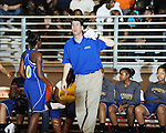 Oxford High coach Shayne Linzy vs. Lafayette High in girls high school basketball at LHS in Oxford, Miss. on Tuesday, January 17, 2012. Oxford won.