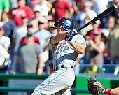 New York Mets right fielder Scott Hairston (12) connects for his second home run to tie the game in the ninth inning against the Washington Nationals at Nationals Park in Washington, D.C. on Sunday, July 31, 2011.  The Nationals won the game 3 - 2..Credit: Ron Sachs / CNP.(RESTRICTION: NO New York or New Jersey Newspapers or newspapers within a 75 mile radius of New York City)