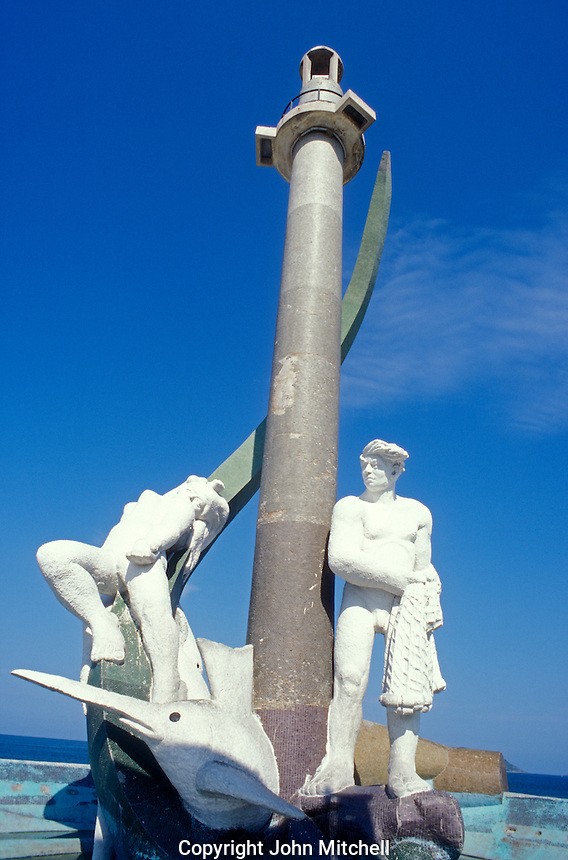 The Fisherman's Monument or Monumento al Pescador in Mazatlan, Sinaloa, Mexico