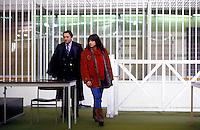 Roma 1987<br /> Aula bunker del Foro Italico<br /> Processo Moro-Ter alle Brigate Rosse. Adriana Faranda