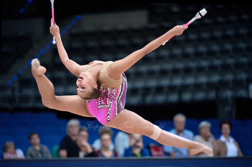 September 10, 2015 - Stuttgart, Germany - MARGARITA MAMUN of Russia performs at 2015 World Championships.