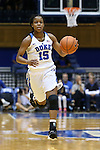 31 December 2015: Duke's Kyra Lambert. The Duke University Blue Devils hosted the University of North Carolina Wilmington Seahawks at Cameron Indoor Stadium in Durham, North Carolina in a 2015-16 NCAA Division I Women's Basketball game. Duke won the game 78-56.