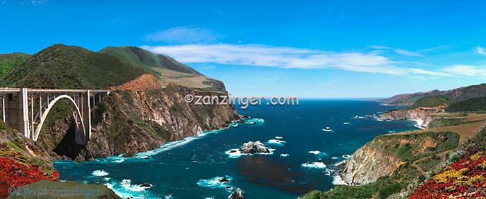 Big Sur, Pacific Coast Highway, Bixby Bridge CGI Backgrounds, ,Beautiful Background