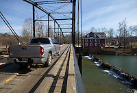 NWA Democrat-Gazette/JASON IVESTER<br /> A vehicle crosses the War Eagle bridge Friday, Feb. 10, 2017, in Rogers.