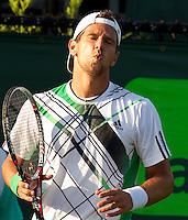 Juergen MELZER (AUT) against Fernando VERDASCO (ESP) in the third round of the men's singles. Fernando Verdasco beat Jurgen Melzer 3-6 7-6 6-1..International Tennis - 2010 ATP World Tour - Sony Ericsson Open - Crandon Park Tennis Center - Key Biscayne - Miami - Florida - USA - Mon 29th Mar 2010..© Frey - Amn Images, Level 1, Barry House, 20-22 Worple Road, London, SW19 4DH, UK .Tel - +44 20 8947 0100.Fax -+44 20 8947 0117