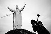 Swiebodzin 21.11.2010 Poland<br /> Preparation for the celebration of the official dedication of the largest statue of Jesus Christ on the world.A giant statue of Jesus Christ is seen in Swiebodzin, 110 km (68 miles) west of Poznan, western Poland. A statue of Jesus Christ that its builders say will be the largest in the world is rising from a Polish cabbage field and local officials hope it will become a beacon for tourists..Photo: Adam Lach / Newsweek Polska / Napo Images<br /> <br /> Przygotowania do  obchodow oficjalnego poswiecenia najwiekszego pomnika Chrystusa na swiecie.<br /> Najwiekszy na swiecie posag Jezusa Chrystusa. Ufundowal go lokalny ksiadz w Swiebodzinie, Sylwester Zawadzki.<br /> Fot: Adam Lach / Newsweek Polska / Napo Images