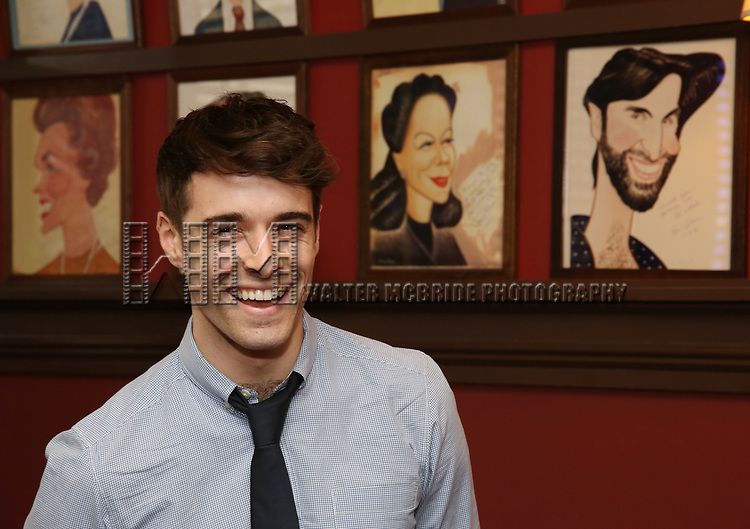 Corey Cott attends the Laura Osnes Sardi's Portrait Unveiling at Sardi's on May 12, 2017 in New York City.