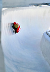 17 December 2010: Eric Bernotas sliding for the USA, finishes in 12th place at the Viessmann FIBT Skeleton World Cup Championships in Lake Placid, New York, USA. Mandatory Credit: Ed Wolfstein Photo