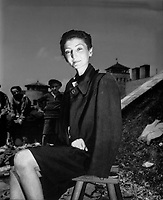 Muhlhausen, Austria.  Nador Livia, in pre-Nazi days, was a beautiful, talented, and famous actress on the Budapest stage.  She was taken prisoner, eventually to Gusen where she is pictured.  Reason for imprisonment:  Jewish heritage.  May 12, 1945.  T5c. Ignatius Gallo.   (Army)<br /> NARA FILE #:  111-SC-204810<br /> WAR &amp; CONFLICT BOOK #:  1112