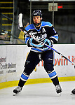 3 December 2011: University of Maine Black Bear defenseman Mike Cornell, a Junior from Franklin, MA, in action against the University of Vermont Catamounts at Gutterson Fieldhouse in Burlington, Vermont. The Catamounts fell to the Black Bears 5-2 in the second game of their 2-game Hockey East weekend series. Mandatory Credit: Ed Wolfstein Photo
