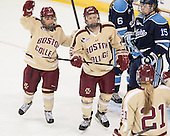 Kristyn Capizzano (BC - 7), Haley Skarupa (BC - 22) - The Boston College Eagles defeated the visiting University of Maine Black Bears 5 to 1 on Sunday, October 6, 2013, in their Hockey East season opener at Kelley Rink in Conte Forum in Chestnut Hill, Massachusetts.