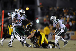 PITTSBURGH, PA - JANUARY 23: Jerricho Cotchery #89 of the New York Jets is tackled by Troy Polamalu #43 of the Pittsburgh Steelers in the AFC Championship Playoff Game at Heinz Field on January 23, 2011 in Pittsburgh, Pennsylvania(Photo by: Rob Tringali) *** Local Caption *** Jerricho Cotchery;Troy Polamalu