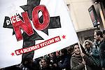 Manifestazione per il No al Referendum costituzionale