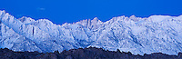 Mount Whitney in pre-dawn light, Sierra Nevada mountains, California