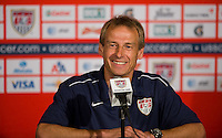 Carson, Ca-Friday Sept. 2, 2011: USA's Head Coach, Jurgen Klinsmann after a 1-0 loss to Costa Rica at the Home Depot Center.