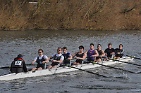 042 IM3.8+ Maidenhead RC A..Reading University Boat Club Head of the River 2012. Eights only. 4.6Km downstream on the Thames form Dreadnaught Reach and Pipers Island, Reading. Saturday 25 February 2012.