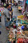 Colorful marketplace in Ecuador