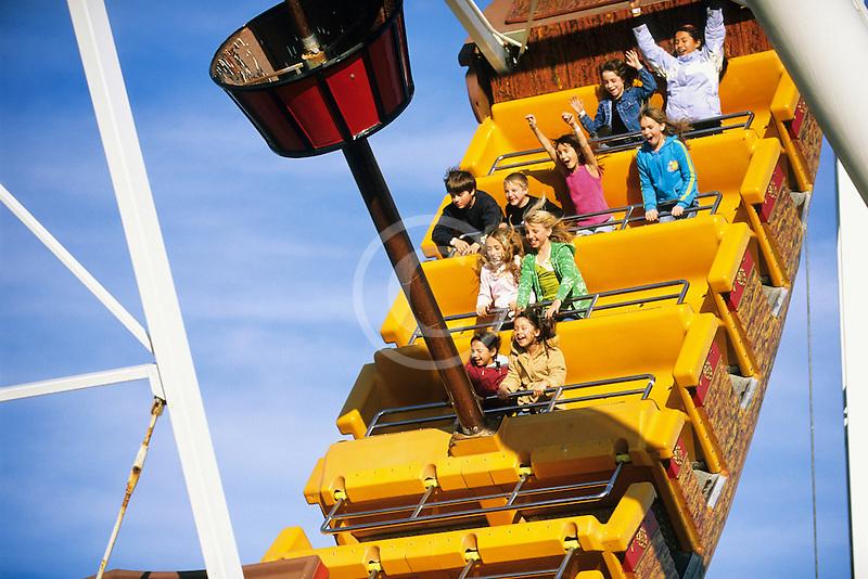 California, Santa Cruz, Santa Cruz Beach Boardwalk, Pirate Ship ride