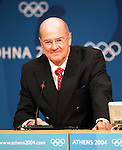Olympia 2004 Athen Pressekonferenz IOC; Vize-Praesident Kevan Gosper;