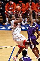 SAN ANTONIO, TX - MARCH 8, 2008: The Stephen F. Austin University Lumberjacks vs. The University of Texas at San Antonio Roadrunners Men's Basketball at the UTSA Convocation Center. (Photo by Jeff Huehn)